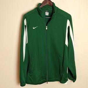Nike Green Dri-fit Full Zip Jacket size medium